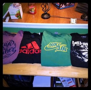Lot of 7 L/XL mens t shirts Nike Adidas quiksilver